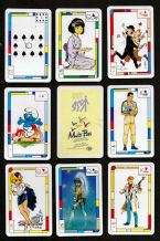 Collectible Belgium playing cards. Multi-pass. Smurfs, Tin-tin